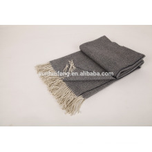 inner mongolia High quality pashmina herringbone throw