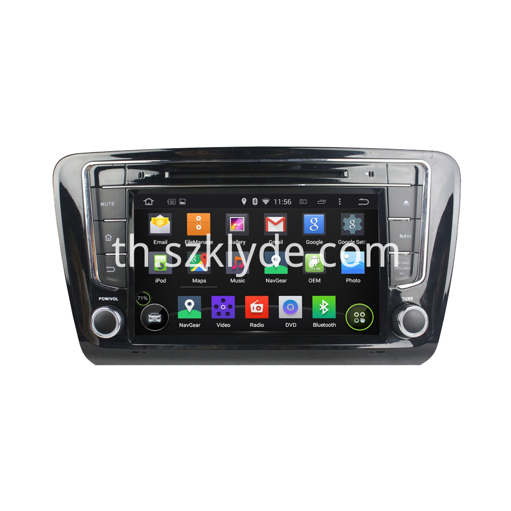 8 inch DVD player for Skoda OCTAVIA 2012