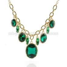 Sapphire Gemstone Drop Pendants Charming Elegant Party Necklace