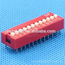 Daier 1 ~ 12 Position Kunststoff Schiebeschalter, 12 Position Dip-Schalter *