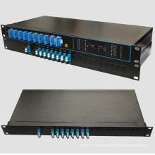 Densa multiplexor de división de longitud de onda 4, 8, 16 canales 200 GHz DWDM