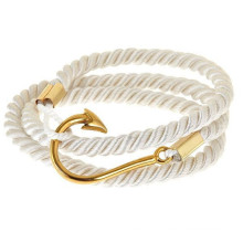 Summer fashion sailor cotton colorful friendship fish hook bracelet in stock