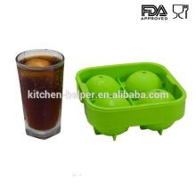 Impermeable fabricante de moldes de bolas de hielo de silicona personalizado para whisky