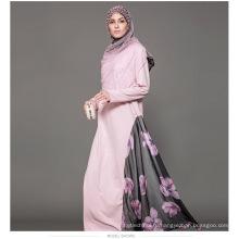 Дубай необычные Абая дамы Оптовая продажа OEM пользовательские Макси мусульманский платье