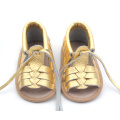 New Arrival Spain Genuine Leather Baby Infant Shoes Sandals
