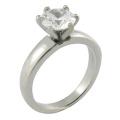 Anneau de diamant de mariage en imitation personnalisé