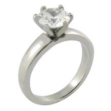 Kundenspezifischer Nachahmungs-Hochzeits-Diamant-Ring