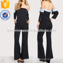 Striped Off Shoulder Top And Pant Set Manufacture Wholesale Fashion Women Apparel (TA4104SS)