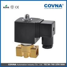 AC230V 3 vías de actuación directa de latón Mini válvula de solenoide de aceite de aire de agua