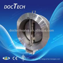 Oblea doble disco de tipo válvula de cheque de oscilación
