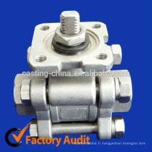 valve de porte de laiton de bâti, valve de papillon d'alliage d'acier inoxydable et pièces de valve d'aluminium