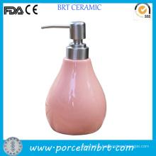 Empty Fancy Pink Lotion Bottle
