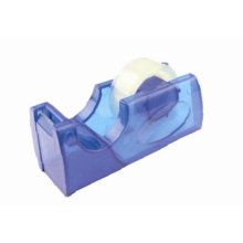 Transparent blue office tape dispenser