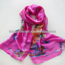 2014 New fabric satin chiffon oblong scarf