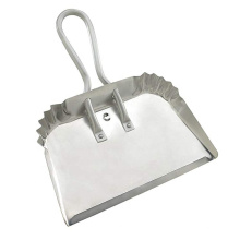 """17"""" Professional and Industrial Aluminum Metal Dustpan with rolled handle"""