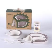 hedgepig shaped kids dinnerware set plastic baby set