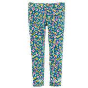 2014 Denim Blue Floral Cotton Girl's Pants