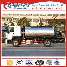Venta directa de la fábrica howo betún pulverizador camión, camión cisterna líquido de asfalto para la venta