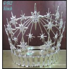 Pageant Bijoux en argent de mariage Tiara Grand Rhinestone Crown