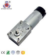 CE, RoHS approuvé 20.6rpm engrenage à vis sans fin moteur 12V dc motoréducteur avec encodeur 7PPR
