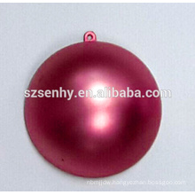 Satin plastic half bauble with hook
