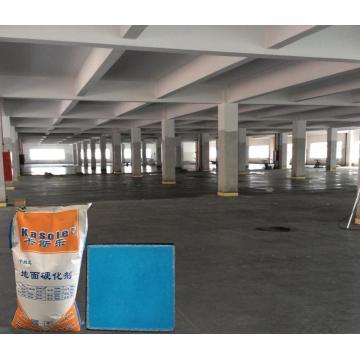 Sky blue non-metallic floor hardener