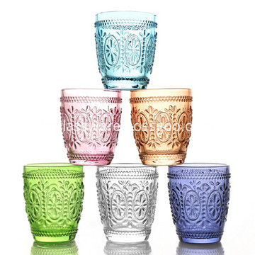 solid colored glass tumbler