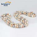 Fashion Pearl Necklace 8mm AA Baroque Long Colorful Pearl Necklace