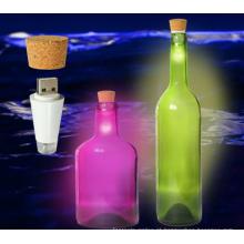 Luz de led recarregável garrafa