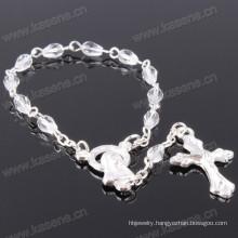 Handmade Chain White 11 Crystal Beads Chaplet