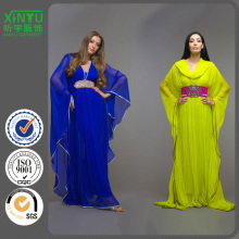 2016 Bat Sleeves Long Chiffon Popular Women Fashion Kaftan