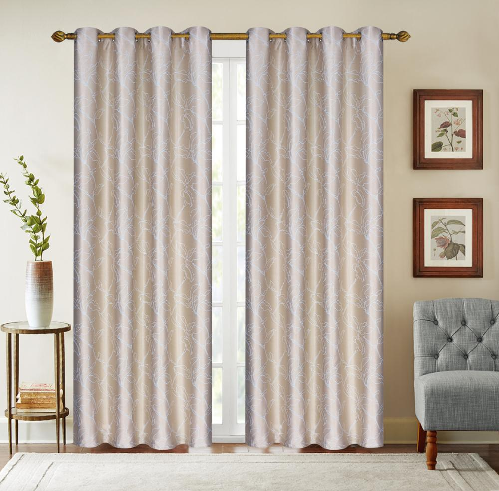 Jacquard Curtains Shade The Living Room