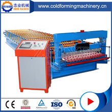PLC Controlled GI Steel Roof Tile Making Machine