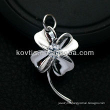 Women favorite flower shape 925 sterling silver pendant