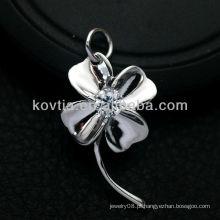 Mulheres flor favorita forma 925 pingente de prata esterlina