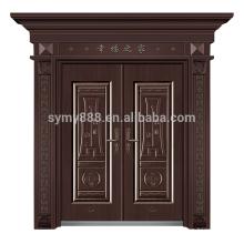 porta principal dianteira de aço do castelo europeu feito sob encomenda superior do estilo com baixo preço