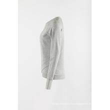 Pull de sport à tricot gris
