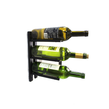 Hot sale high quality aluminum wine pegs with black metal back panel wall mounted wine racks