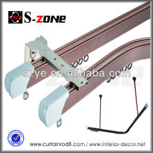 GD26 white curtain rails rods and accessories with bay window