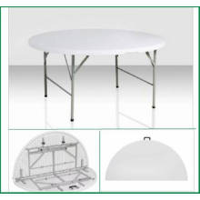 1.22m High Qualtity Plastic Plastic Folding Half Round Table (mesa de jantar HQ-ZY122)