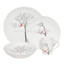 China Manufacturer ceramic dinner set with full decal