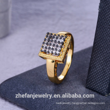 customized ring with golden color in Zhefan for women