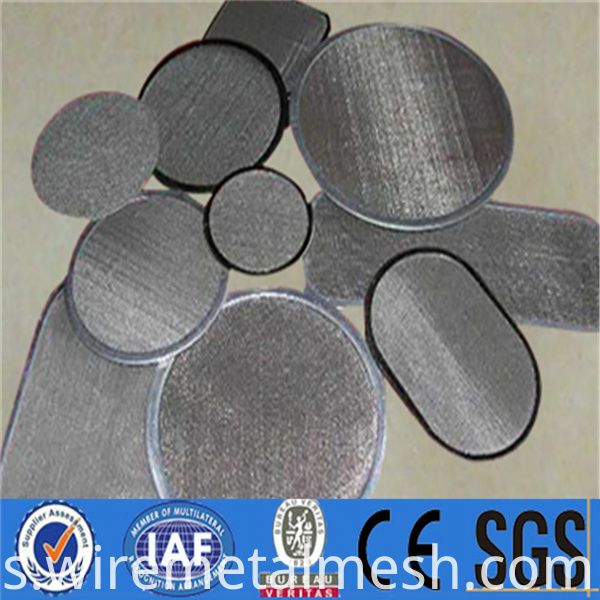 Round stainless steel woven filter disc (27)