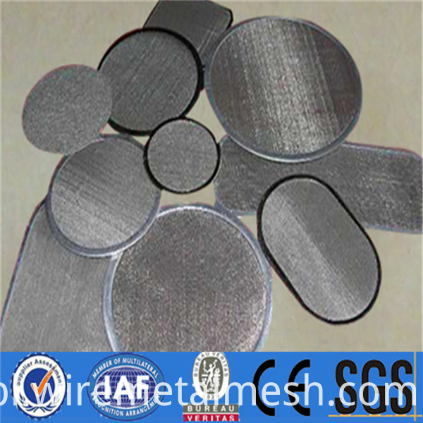 High filtration stainless steel woven filter disc (27)