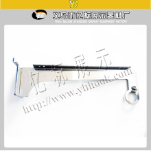 Metal pipe brackets arm with screw hooks chrome