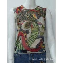 2012 Горячая продажа татуировки футболку / рукава