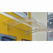 Door Canopy with Clear Polycarbonate Sheet and Aluminum Bracket