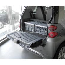 Boîte de rangement d'épicerie en plastique avec couvercle pour voiture