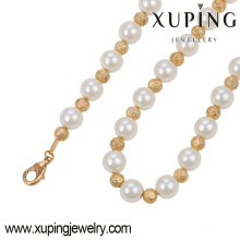 Fashion Elegant 18k Gold Color Jewelry Necklace with Bead Pearls-42930