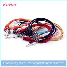 Многоцветный браслет из искусственной кожи титановый стальной крест подвесной браслет дешевые аксессуары в наличии